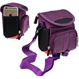 Navitech Purple Digital Camera Case Bag For The Nikon COOLPIX A900 / COOLPIX A300 / COOLPIX B500 / COOLPIX A10