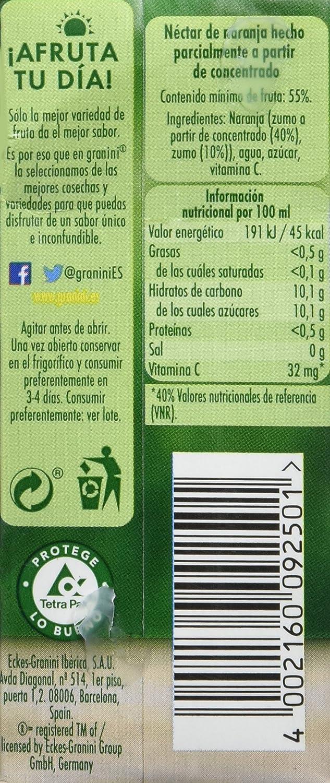 Granini - Zumo Nectar Naranja Minibrick 3 x 0,2 L - [Pack de 9]: Amazon.es: Alimentación y bebidas