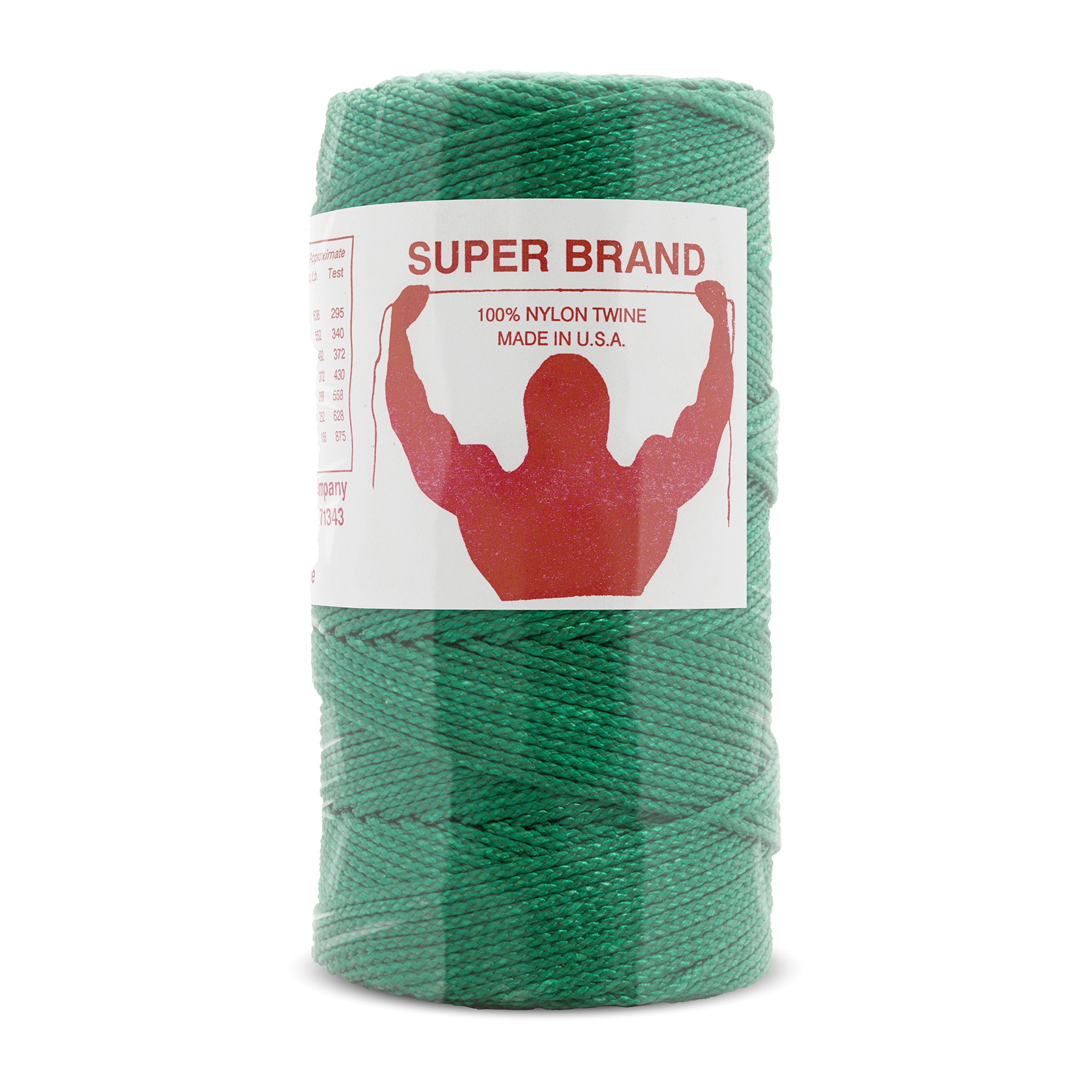 Green Nylon Twine, Braided. Size #60, 1/4 lb 6-pack