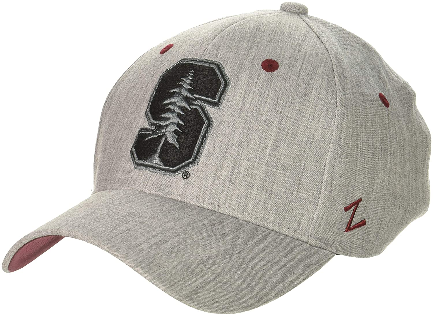 X-Large NCAA Zephyr Stanford Cardinal Mens Tailored Stretch Hat Grey
