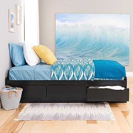 Amazoncom Black Twin Xl Mates Platform Storage Bed With 3