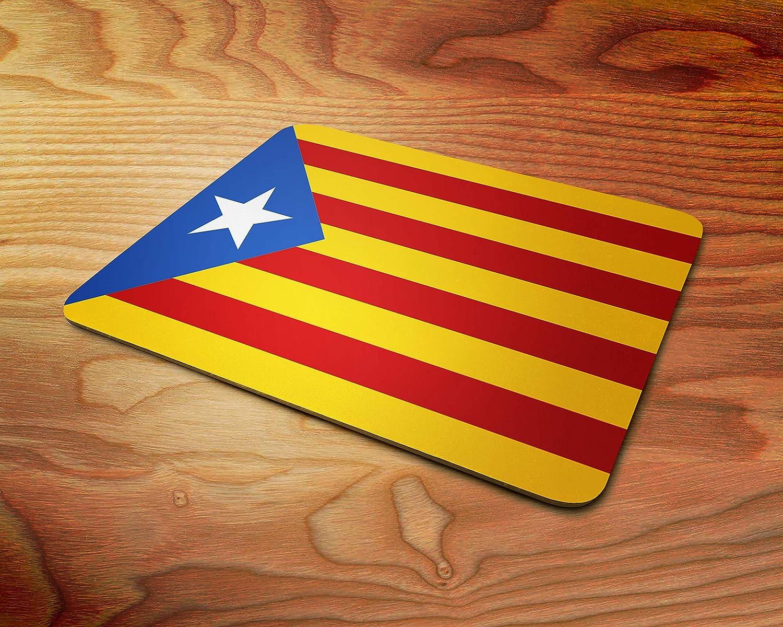 España Bandera catalán Estrella Almohadilla de ratón de Goma Suave de 5 mm para Juegos: Amazon.es: Electrónica