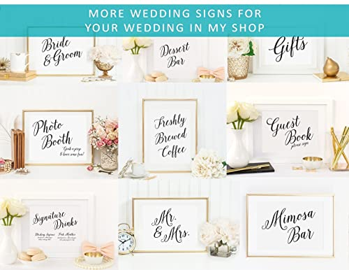 Wedding Champagne Sign Wedding Bar Signs Your Choice of Size and Color Print Sign Time to Drink Champagne and Dance On the Table Sign UNFRAMED Wedding Reception Bar Sign