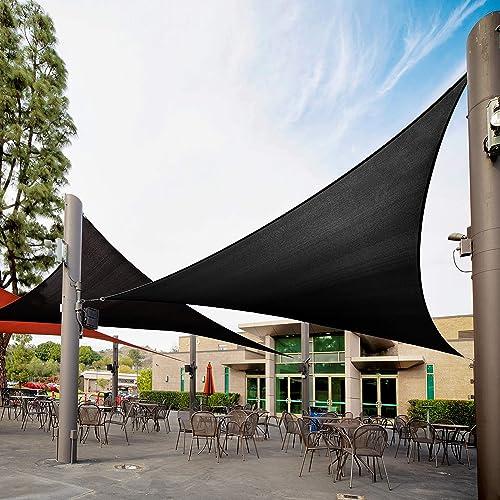 Royal Shade 21' x 21' x 21' Black Custom Size Order to Make Sun Shade Sail RTAPRT12 Canopy Mesh UV Block Triangle