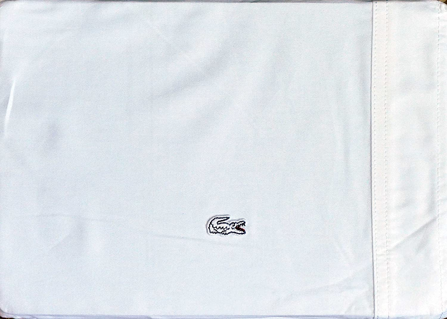 LaCoste Bedding 4pc Queen Brushed Twill Sheet Set White