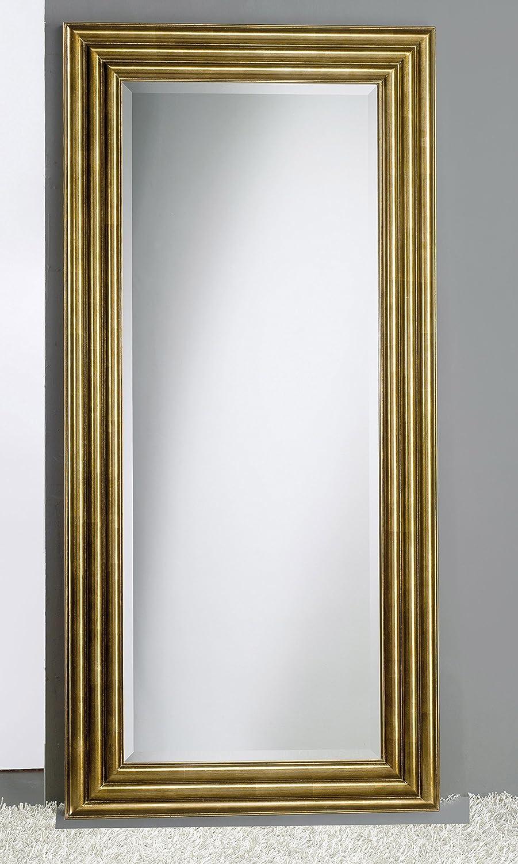 Espejo con marco de madera, hoja bronce, 100% Made in Italy Certificado