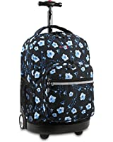 J World New York Sunrise Rolling Backpack, Night Bloom, One Size