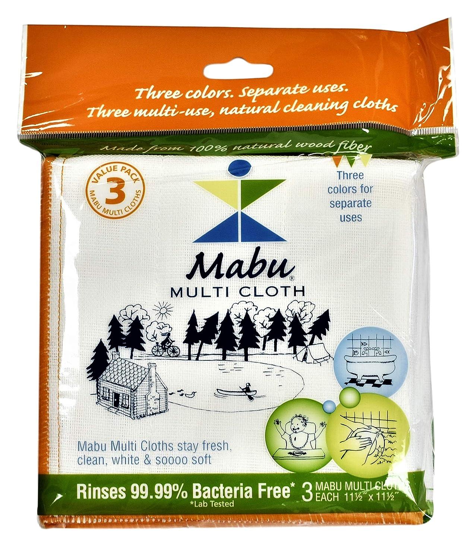 Mabu Wood Fiber Cleaning Cloth, 3-pack Mabu Naturals Co. H&PC-78065