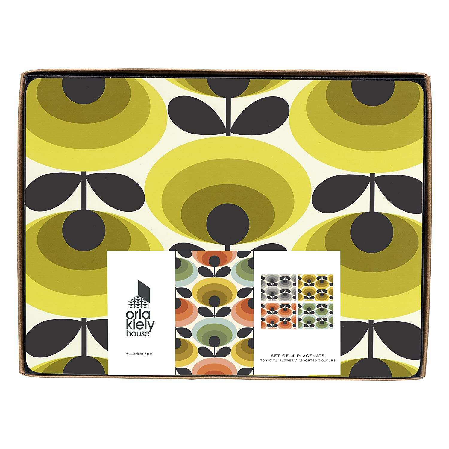 Orla Kiely 70s Oval Placemats Set of 4