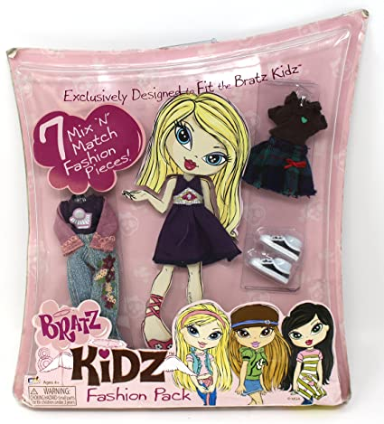 Amazon.com: Bratz Kidz Fashion Pack 7 Mix 'N Match Fashion Pieces ...