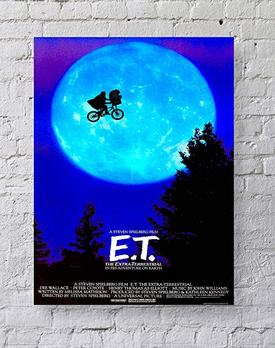 MeiMeiZ E.T. The Extra-Terrestrial Movie Poster Standard Size | 18-Inches by 24-Inches | E.T. Posters Wall Poster Print