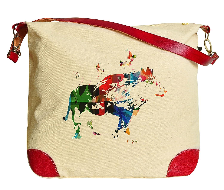 Vietsbay Colorful Animals Casual Printed Canvas Tote Shoulder Bag HandBag WAS_33