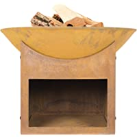 La Hacienda 58240 Oxidised Fasa Fire Pit Basket Bowl Cast Iron Outdoor Heater