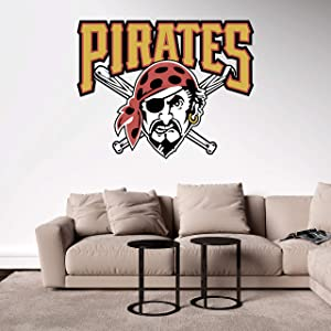 """Baseball Team Logo - Wall Decal Removable & Reusable For Home Bedroom (Wide 20"""" x 16"""" Height)"""
