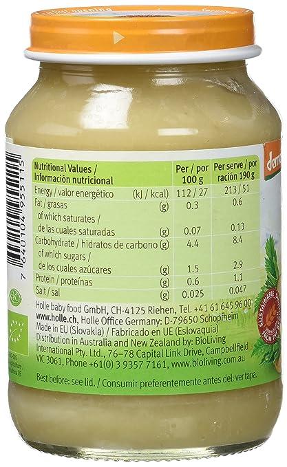 Holle Potito de Chirivía (+4 meses) - Paquete de 6 x 125 gr - Total: 750 gr: Amazon.es: Alimentación y bebidas