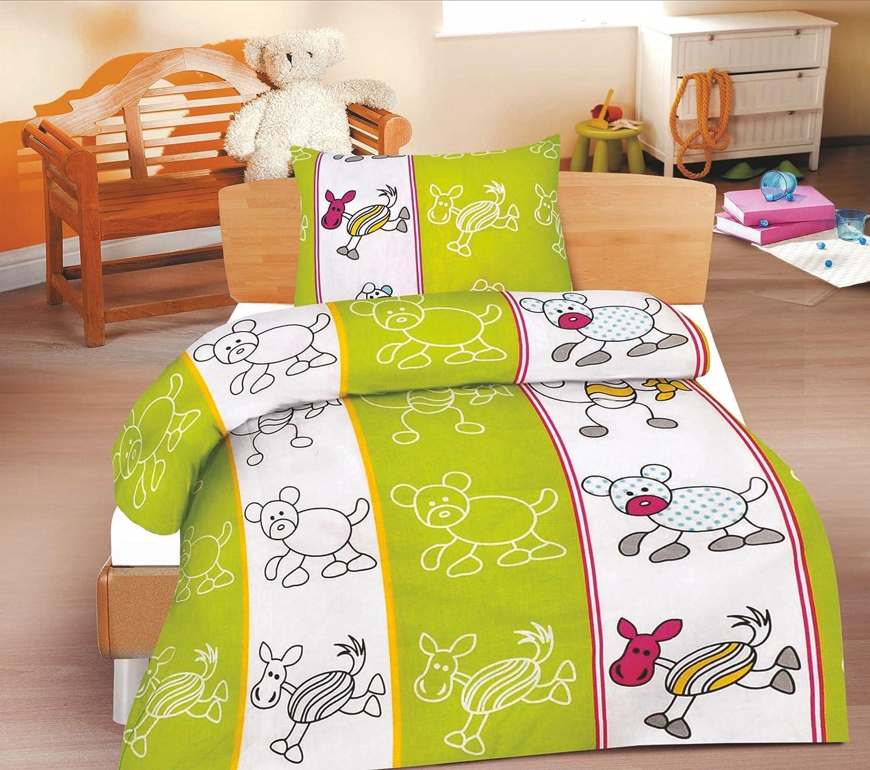 Jimmy 2-Piece Children's Bed Linen Set, Renforcé Cotton, 100 x 135 cm + 40 x 60 cm optidream 416170_JIMMY
