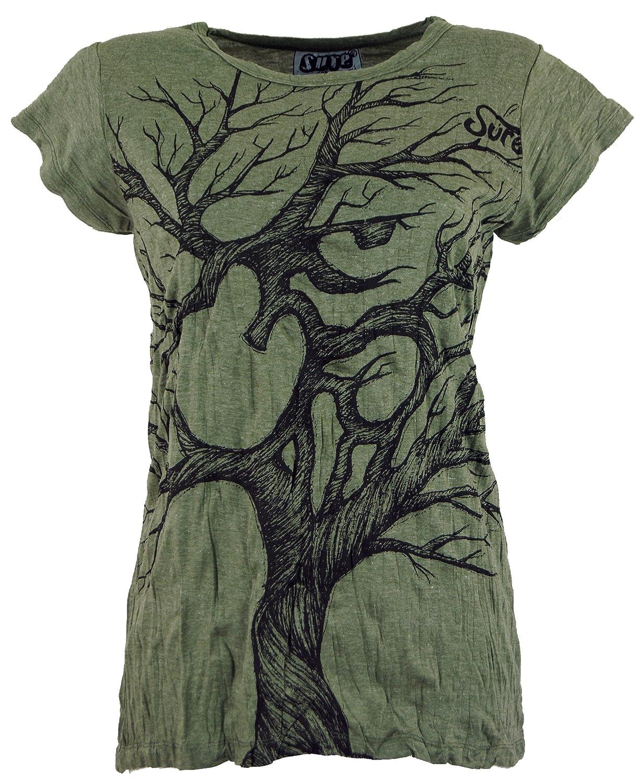 Cotone Maglietta Sure Om Tree Guru-Shop Certo che le Camicie