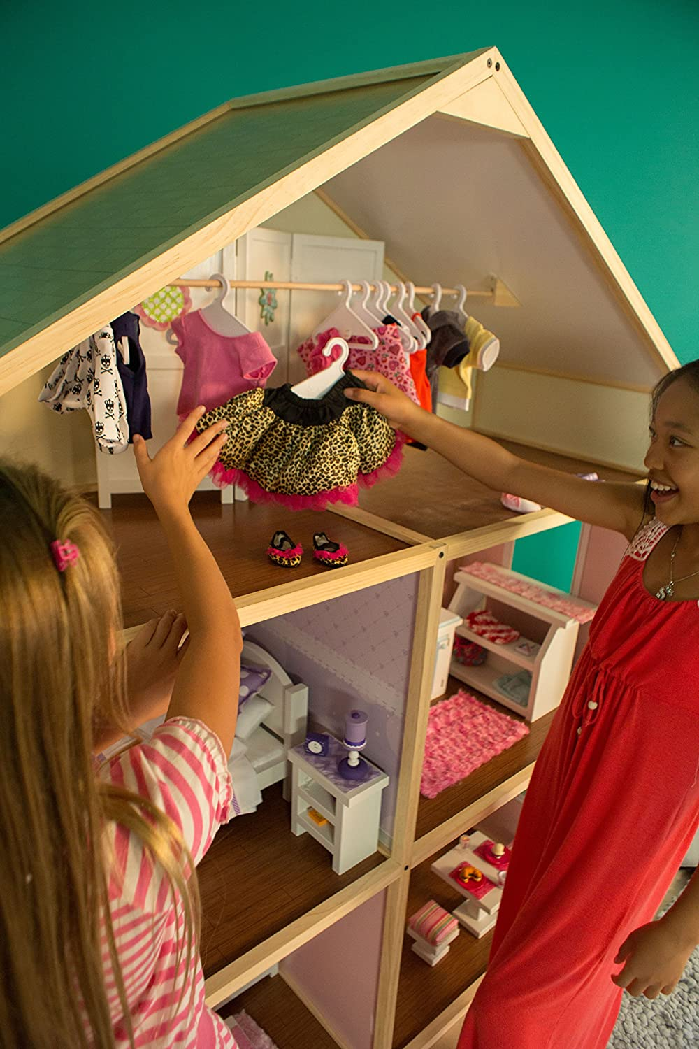 Country French Style My Girls Dollhouse for 18 Dolls