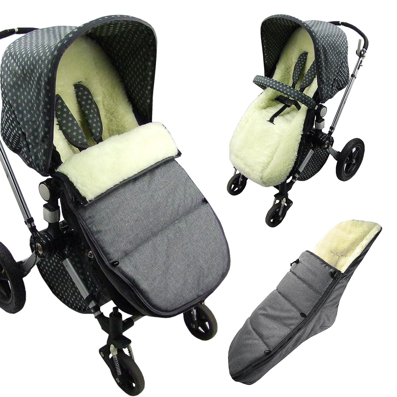 Bambini World Bugaboo Cameleon Footmuff For Model Seat Cover Case Lambs Wool Winter Footmuff Grey Baby