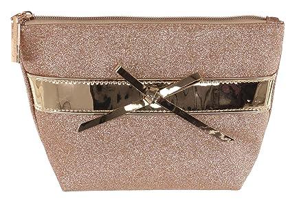 0ab84821e0e84 Camomilla Milano-pochette beauty glam glitter  Amazon.it  Bellezza