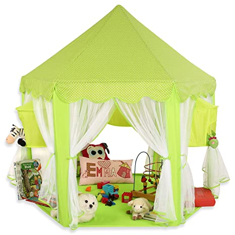 f273650c17faed KIDUKU Tenda gioco per Bambini Verde, Castello di gioco, Castello  principessa tenda da gioco