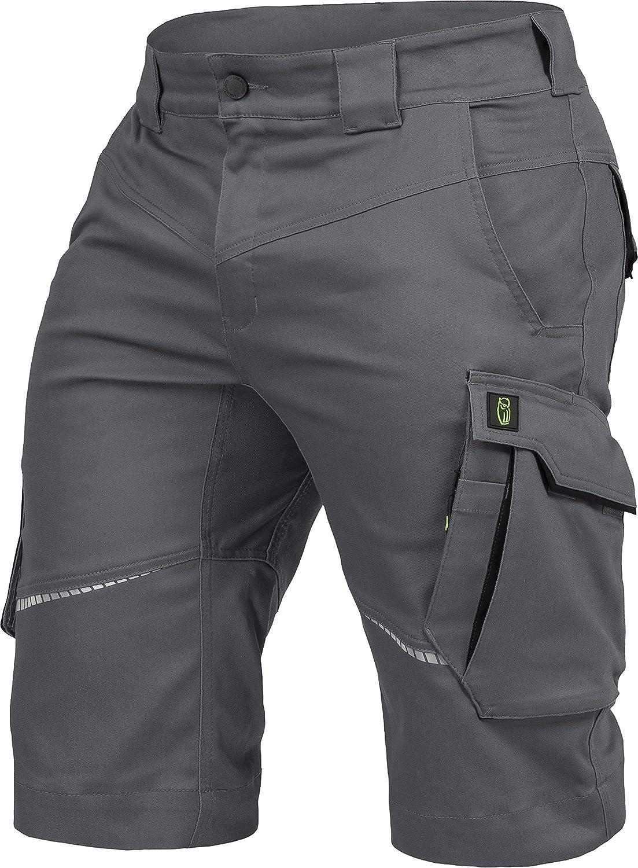 Leib W/ächter Flex-Line Herren Arbeitsshort grau//schwarz flexibel mit Spandex