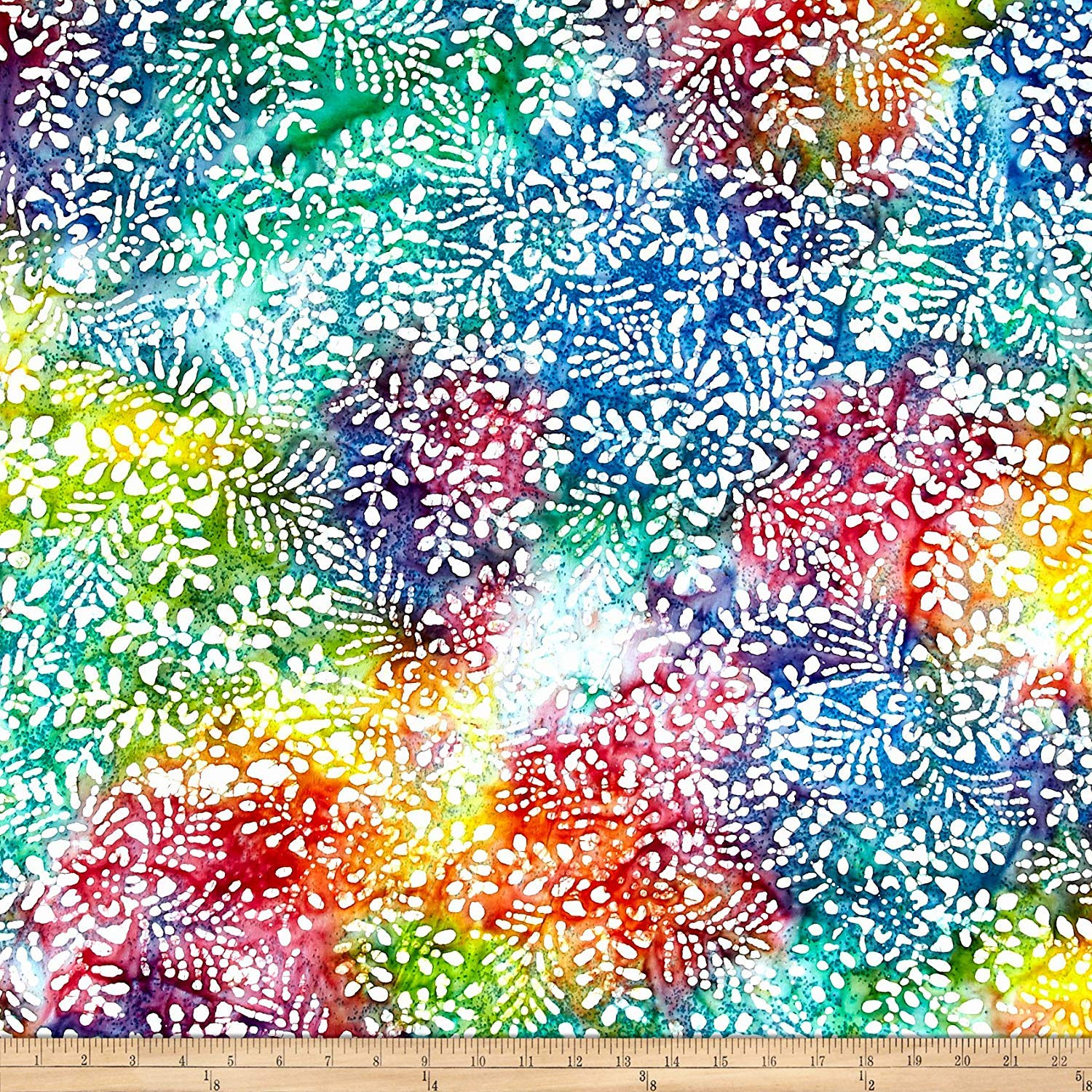 419d9423a8f Amazon.com: Textile Creations 0530738 Cotton Jersey Knit Batik Floral Bright/Multi  Fabric by The Yard Multicolor