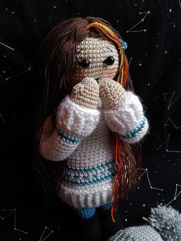Amazon.com: Mori Kei Girl Art Doll Amigurumi Crochet Pattern and ...   1500x1125