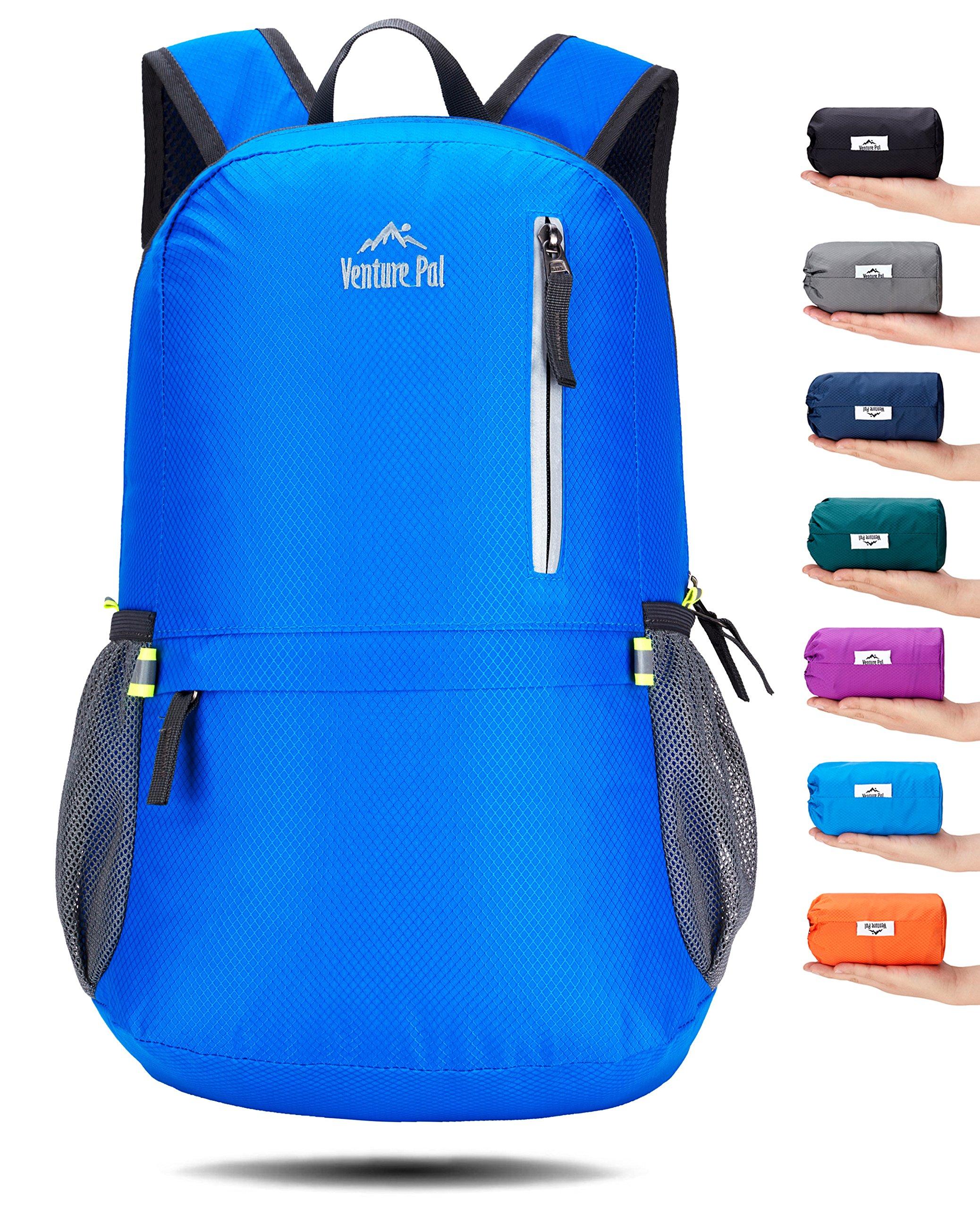 Venture Pal 25L Travel Backpack - Durable Packable Lightweight Small Backpack Women Men (Blue)