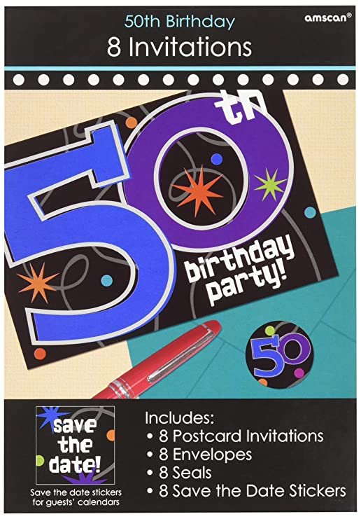 amazon com amscan the party continuous 50th birthday party