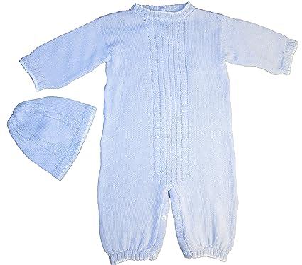 b79a86d51 Amazon.com: 100% Cotton Baby Blue Boys 2 Piece Cable-Knit Longall ...