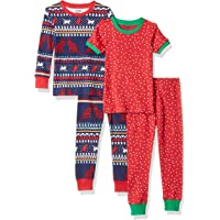 Amazon Brand - Spotted Zebra Girls Snug-Fit Cotton Pajamas Sleepwear Sets