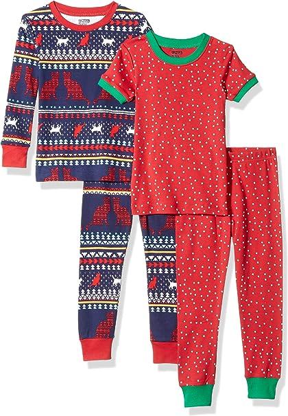 Pack of 4 X-Large Spotted Zebra 4-piece Snug-fit Cotton Pajama Set Space Cadet 12