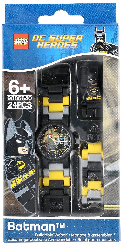 Lego Batman Movie 8020264 Kinder Armbanduhr Mit Minifigur Und Star Wars Yoda Kids Buildable Watch 8021032 Gliederarmband Zum Zusammenbauen Schwarz Gelb Kunststoff Gehusedurchmesser 25mm