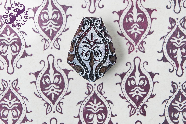 Blockwallah Ornate Pattern Wooden Block Stamp