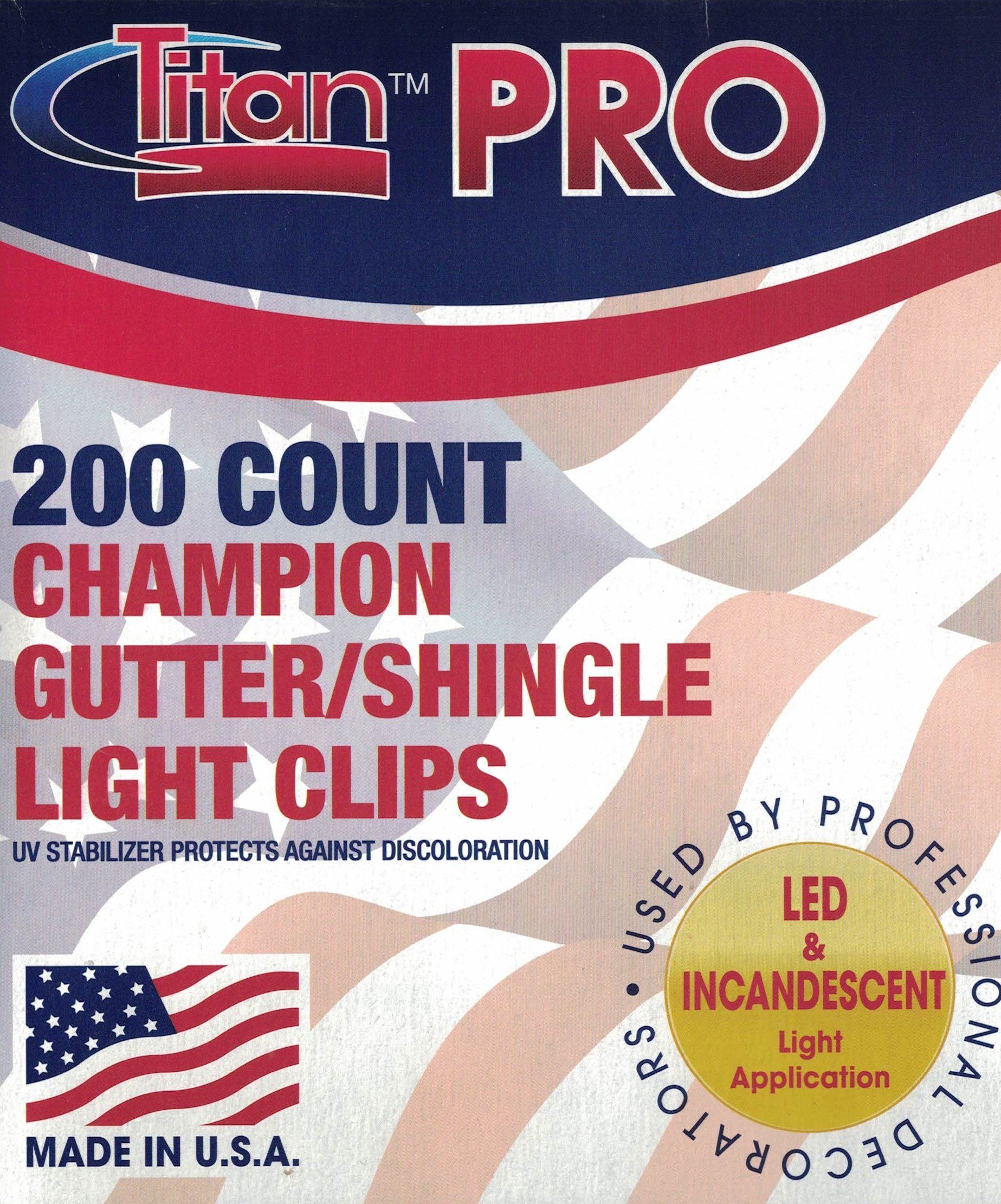 200 Count Champion Gutter/Shingle Light Clips