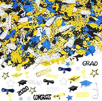 HOWAF 2020 graduación Decoraciones de Mesa graduación Confeti 2 oz ...