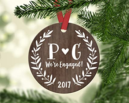 Personalized Engagement Ornament Personalized Engagement Gift for Couple  Rustic Engaged Ornament Wood Engagement Christmas Ornament Initials - Amazon.com: Personalized Engagement Ornament Personalized Engagement