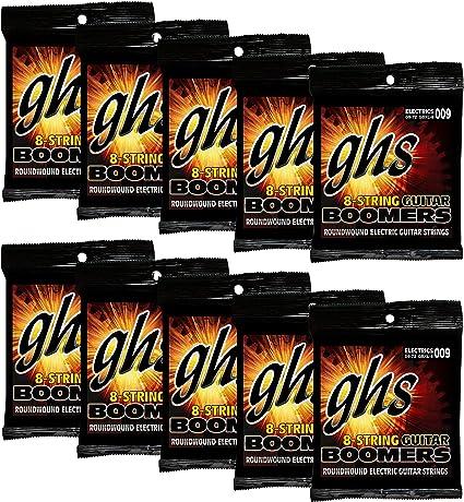 GHS Cuerdas para guitarra eléctrica (GBXL-8-10 SET): Amazon.es ...