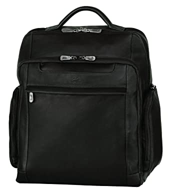 56e7583ba9 Image Unavailable. Image not available for. Color  Mancini Leather Goods  Columbian 15.6 quot  Laptop Backpack with RFID Secure Pocket