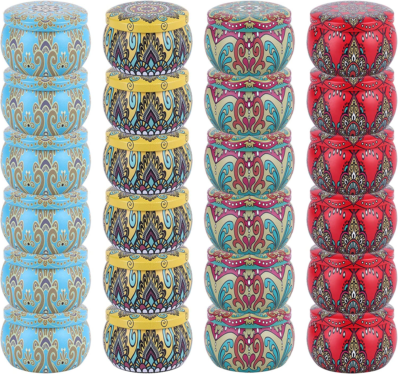 Pack de 24 latas para Velas. 118 ml (Mandalas 2)