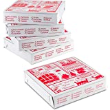 """10"""" Length x 10"""" Width x 2"""" Depth Lock Corner Clay Coated Thin Pizza Box by MT Products (10 Pieces)"""