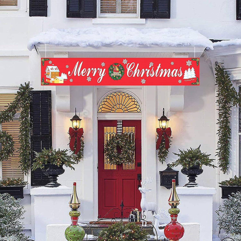 Sayala 2 Piezas Grande Navidad y Año Nuevo Cartel de Banner ...