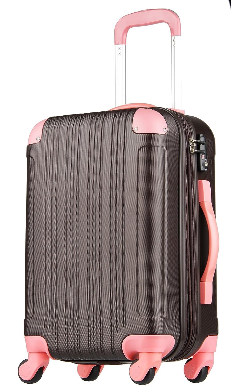 【レジェンドウォーカー】LEGEND WALKER スーツケース 容量拡張 TSAロック 超軽量 マット加工 ファスナー開閉 5082 B01J3A30C2 Sサイズ(3~5泊/47(拡張時56)L)|チョコ/ピンク チョコ/ピンク Sサイズ(3~5泊/47(拡張時56)L)