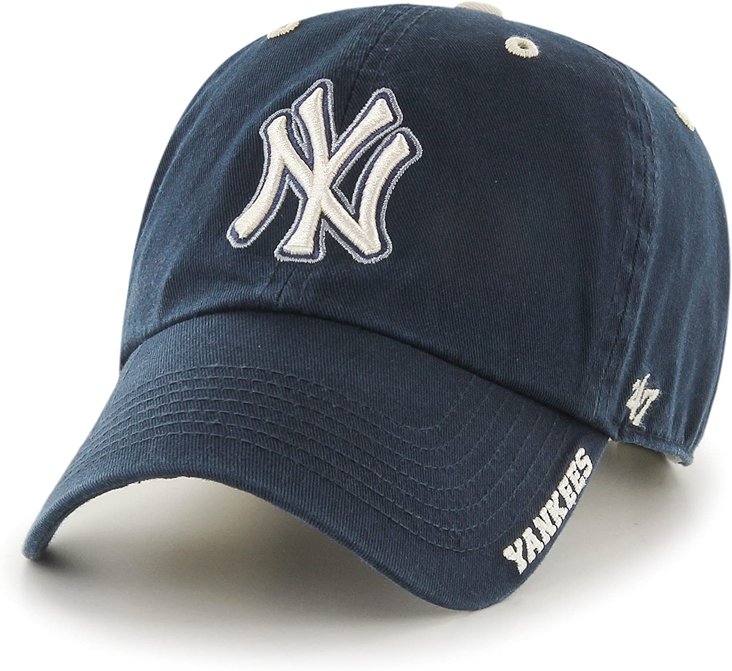 MLB New York Yankees Men's '47 Brand Ice Clean Up Cap, Navy, One-Size
