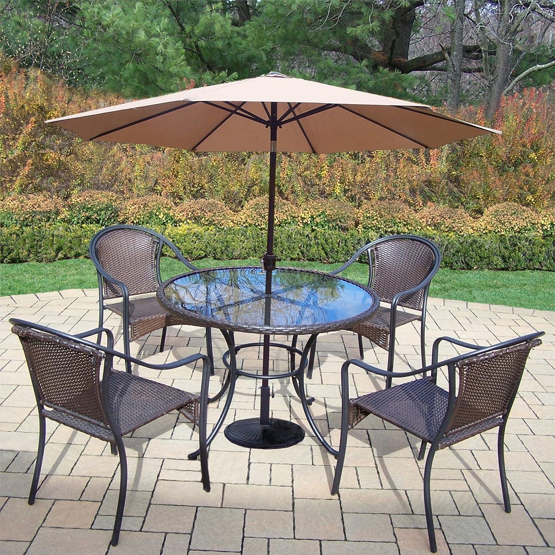 Amazon Com Oakland Living Outdoor Patio Furniture Sets Black