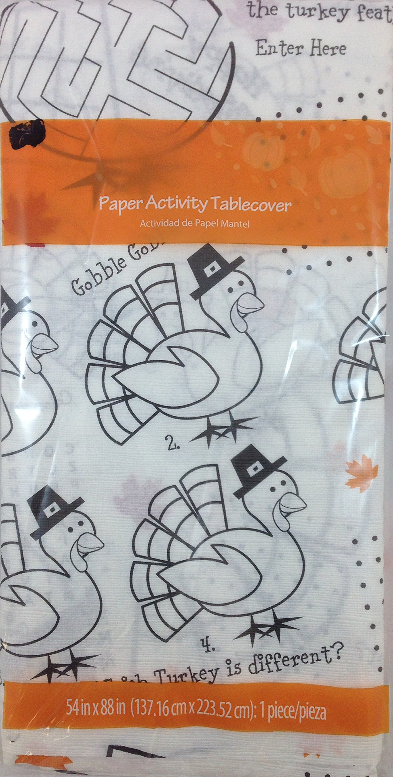 Paper Activity Happy Thanksgiving Tablecover