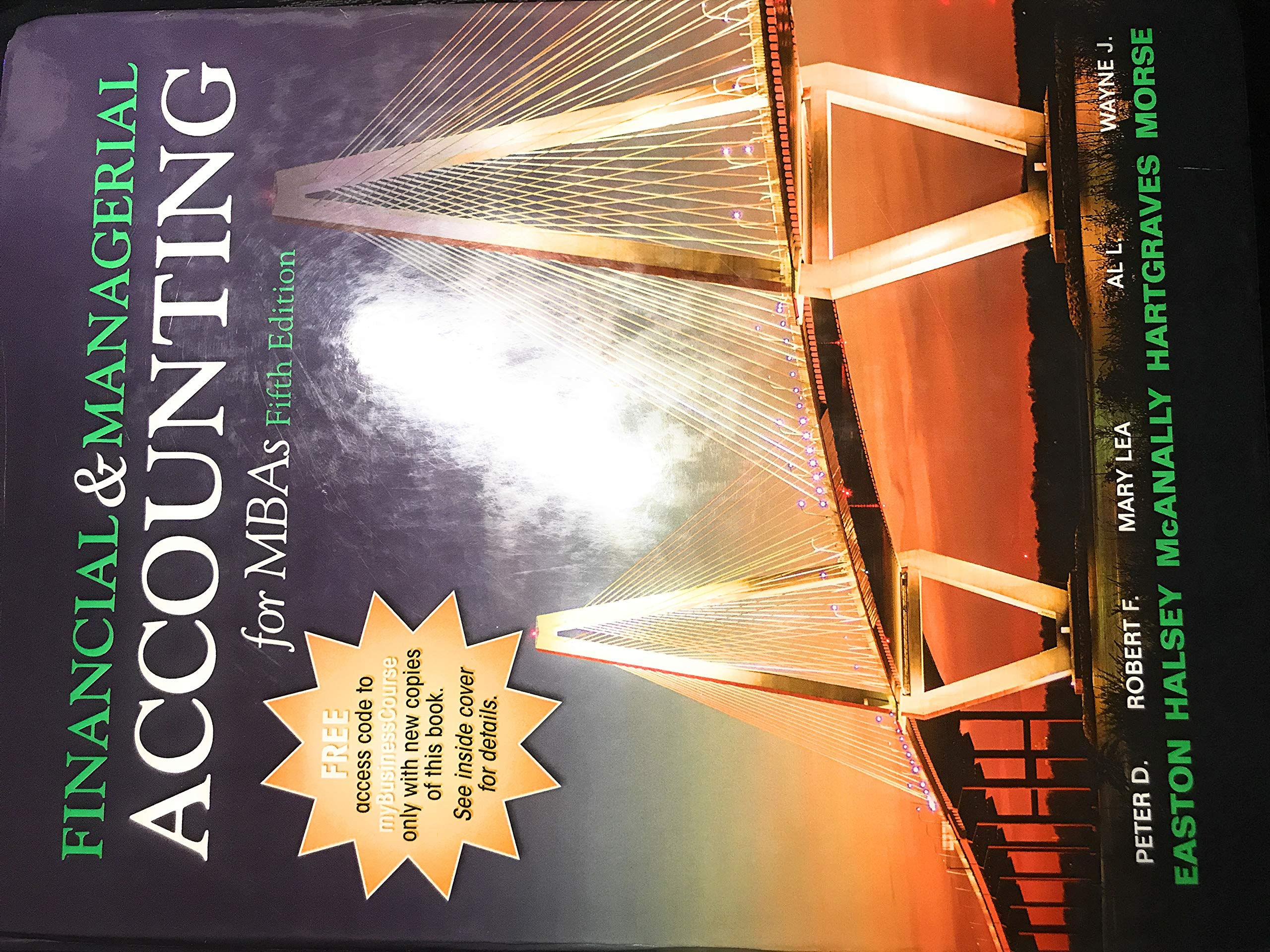 Financial and Managerial Accounting for MBAs 5th Edition: Peter D. Easton:  9781618532329: Amazon.com: Books