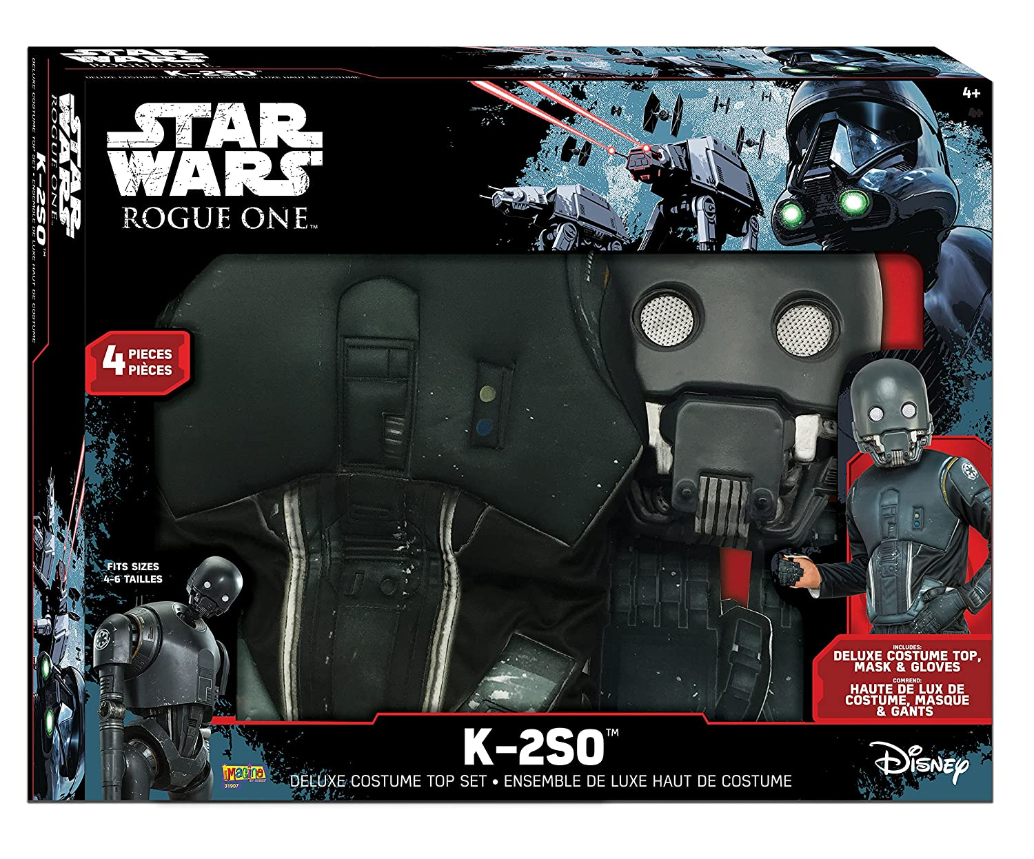 A Star Wars Story Boxed K-2So Deluxe Costume Top Set Imagine by Rubies Rogue One Small Costume
