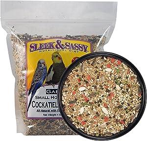 SLEEK & SASSY NUTRITIONAL DIET Garden Small Hookbill Bird Food for Cockatiels, Lovebirds, Quaker Parrots & Small Conures
